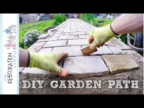 Building a Garden Path with Natural Stone Setts