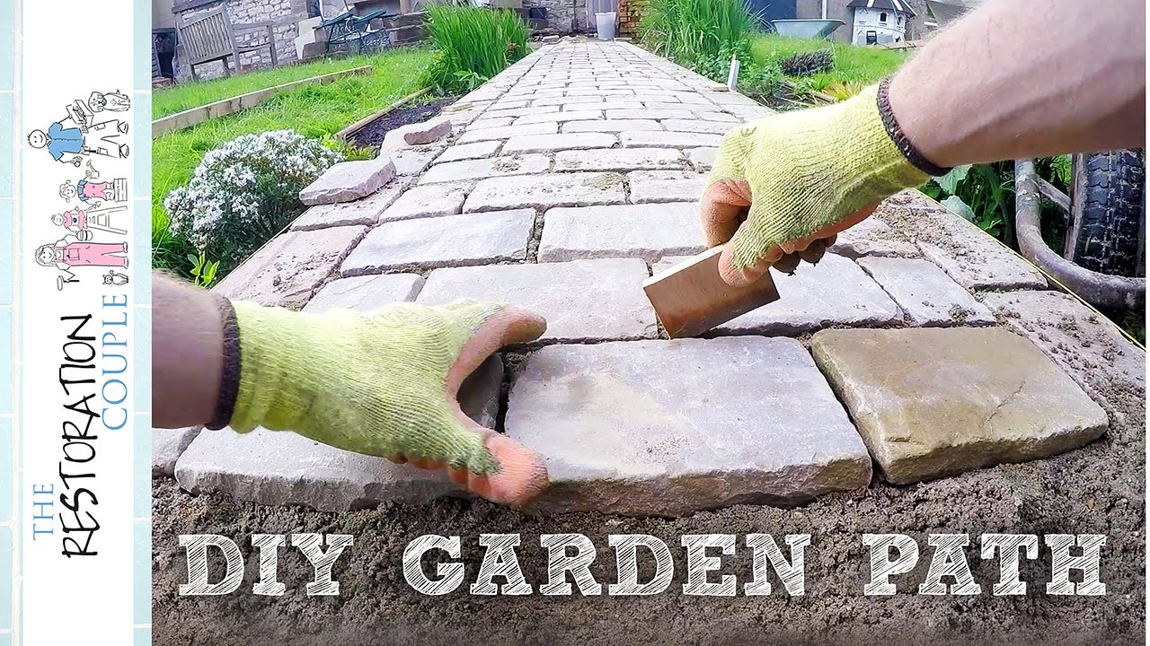 Building a Garden Path with Natural Stone Setts YouTube