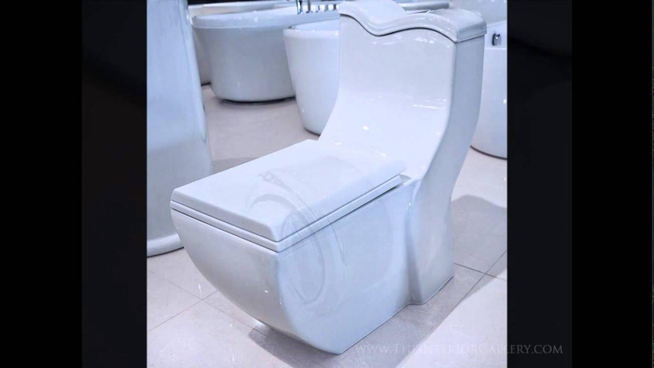 Modern bathroom toilet - Modern Bathroom Toilet Dual Flush Wash Down Closet Len