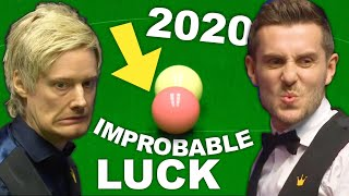 TOP 25 Crazy & Funny FLUKES | World Snooker Championship 2020