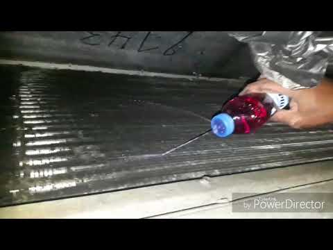 Split Ac evaporator coil chemical cleaning