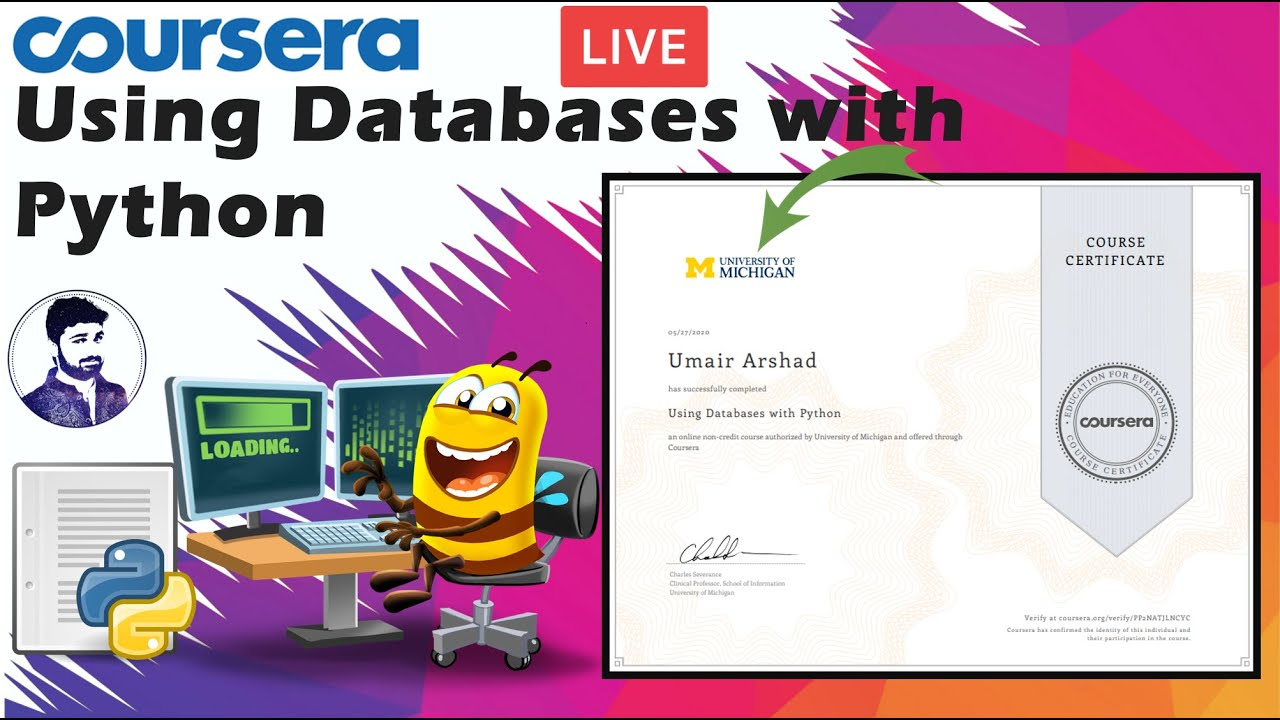 Coursera Using Databases With Python All Assignments And Quizzes Solved Live Youtube