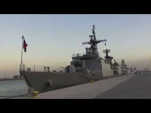 Bangladesh Navy Frigate BNS Bangabandhu At Doha International Maritime Exhibition and Conference