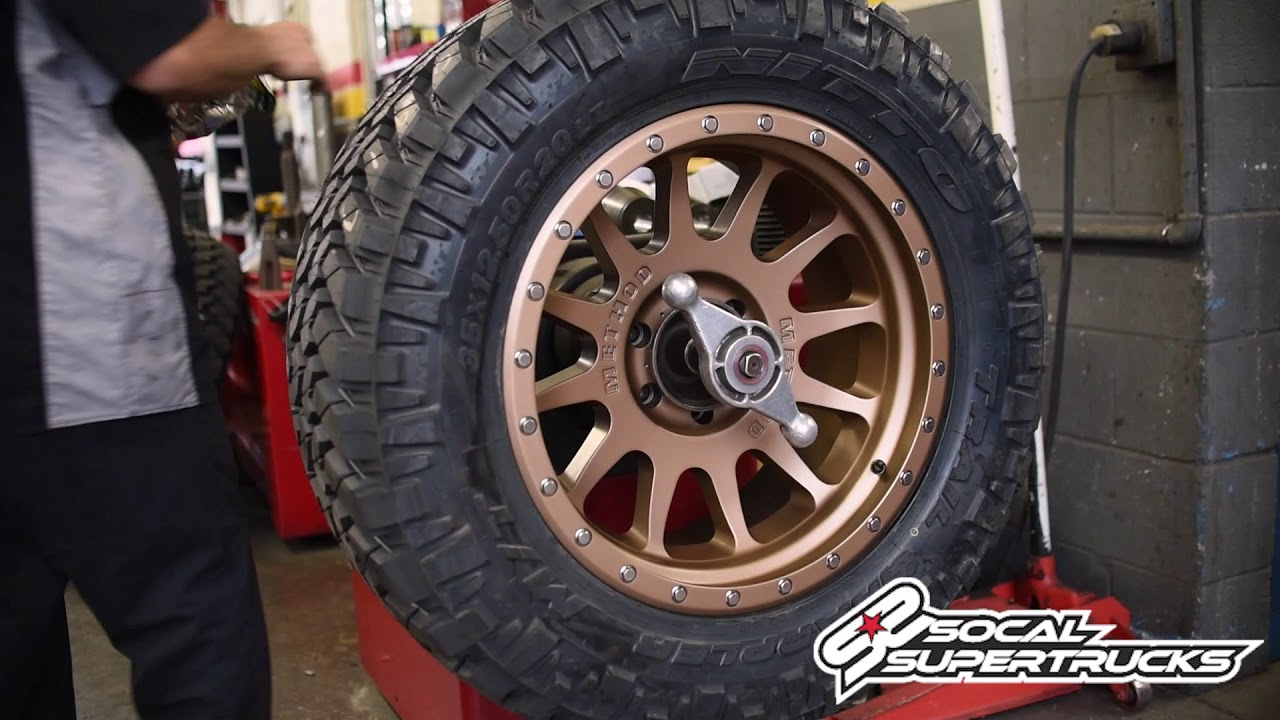 "Race Red F150 >> SoCal SuperTrucks Installs the New 605 ""NV"" Bronze Method Race Wheels on a Chevy Silverado 1500 ..."
