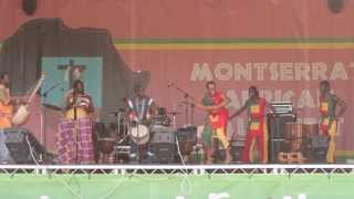 Jalikunda delights the crowd at the 1st Montserrat African Music Festival