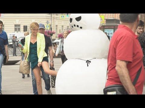 ЗЛОЙ СНЕГОВИК В РОССИИ /angry snowman in russia / ПОДСТАВА