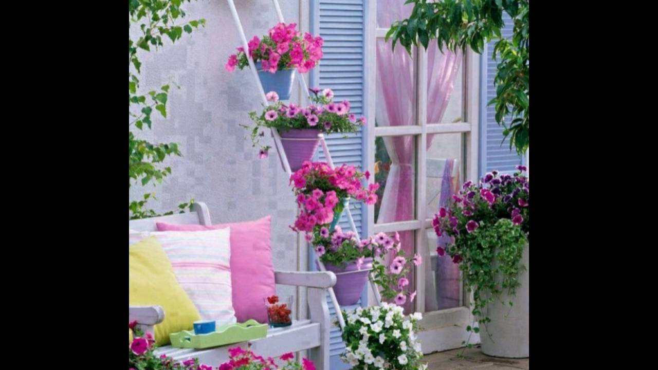 balkon versch nern balkon deko ideen balkongestaltung balkonm bel deko mit blumen youtube. Black Bedroom Furniture Sets. Home Design Ideas