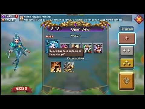 Misi Challenge Bab 8》8-18 Percobaan 1《 Lords Mobile