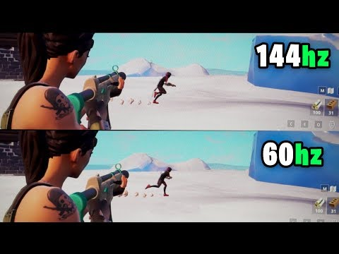 Watch This Video BEFORE Buying a 144Hz Monitor! - Slow motion Comparison 144Hz vs 60Hz Fortnite