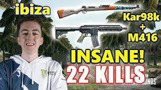 PUBG - ibiza - 22 KILLS - Kar98k + M416 INSANE! #SOLO