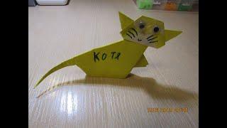 Оригами котенок ❤️ Животные из бумаги.