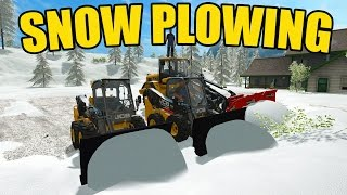 FARMING SIMULATOR 2017 | SNOW PLOWING | MULTIPLAYER | BIG SNOWSTORM