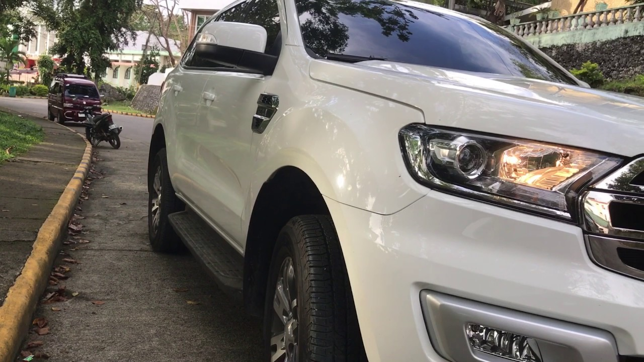 Ford Everest Cool White >> Ford Everest Trend 2017 4x2 At Delivery Cool White Youtube