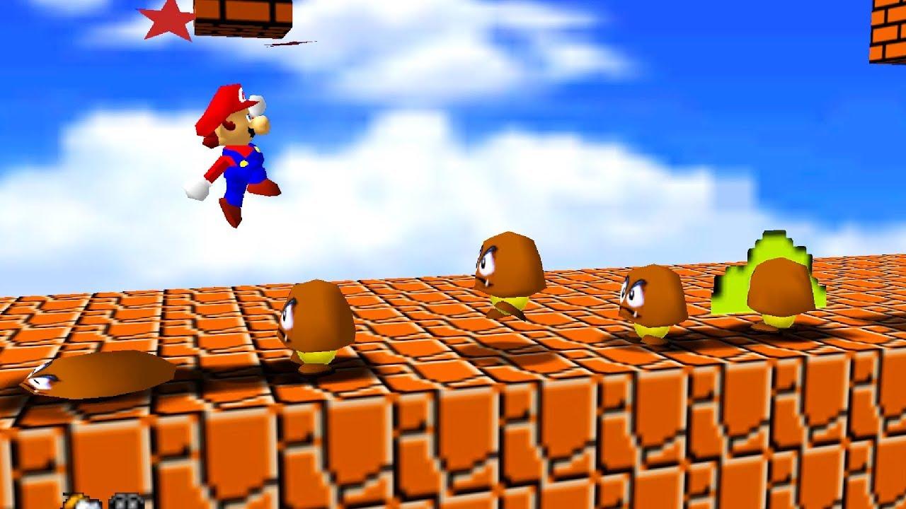 What If Super Mario Bros 1-1 was in Super Mario 64
