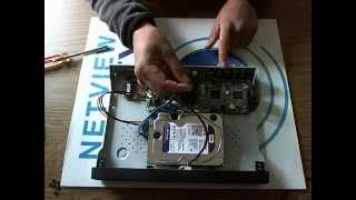 Hikvision DS-7208HGI Turbo DVR Hard Drive Install Demonstration how to