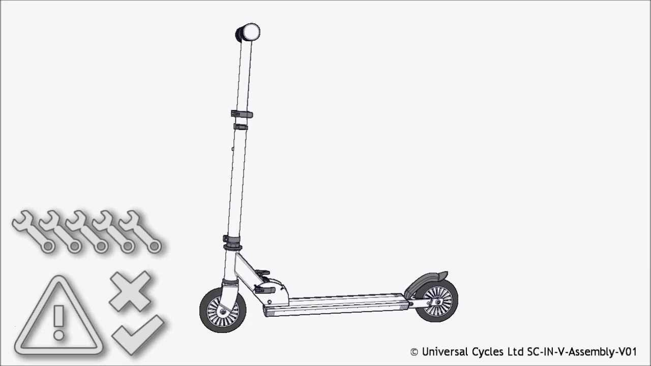 hight resolution of inline scooter assembly instructions