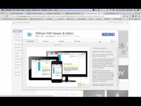 Opening and Editing Word and PDF documents on the Chromebook