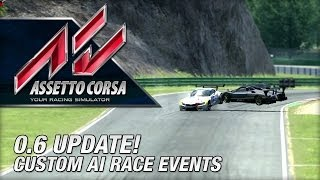 Assetto Corsa Early Access - 0.6 Update with Custom Races