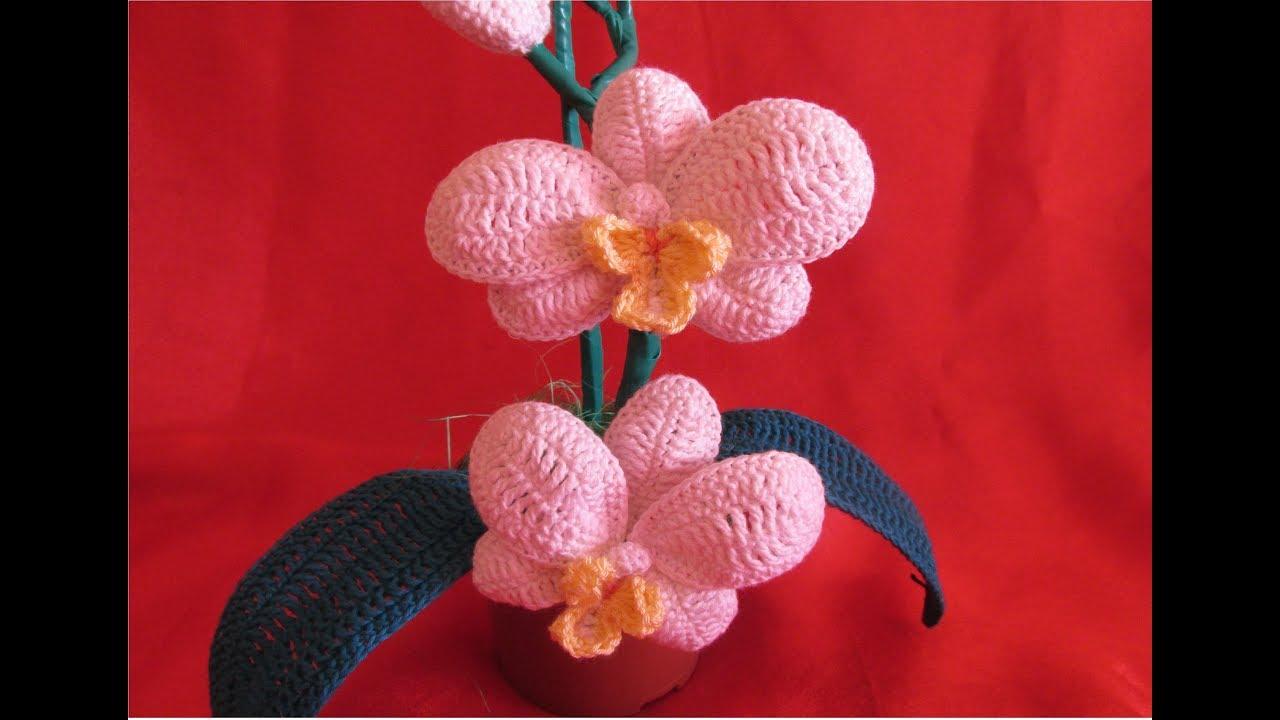 Floare Crosetata Orhidee Tutorial Pas Cu Pas Partea A Ii A
