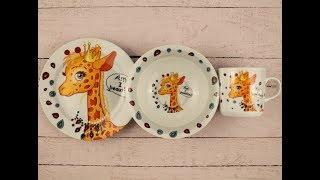 Набор детской посуды:Божья коровка, Винни-Пух, Жираф, Молния Маквин, Фунтик, Человек-паук . Обзор