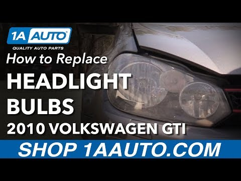 How to Replace Headlight Bulbs 10-14 Volkswagen GTI