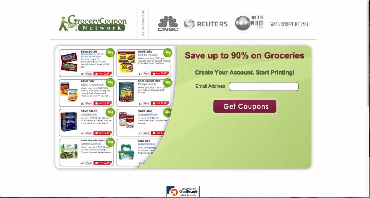 Print free grocery coupons now