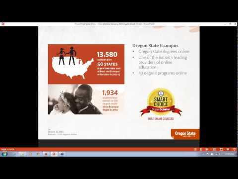 2015- Oregon State University's Community College Leadership online