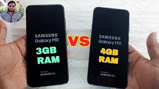 Samsung Galaxy M11 4GB RAM vs Galaxy M11 3GB RAM Speed Test?