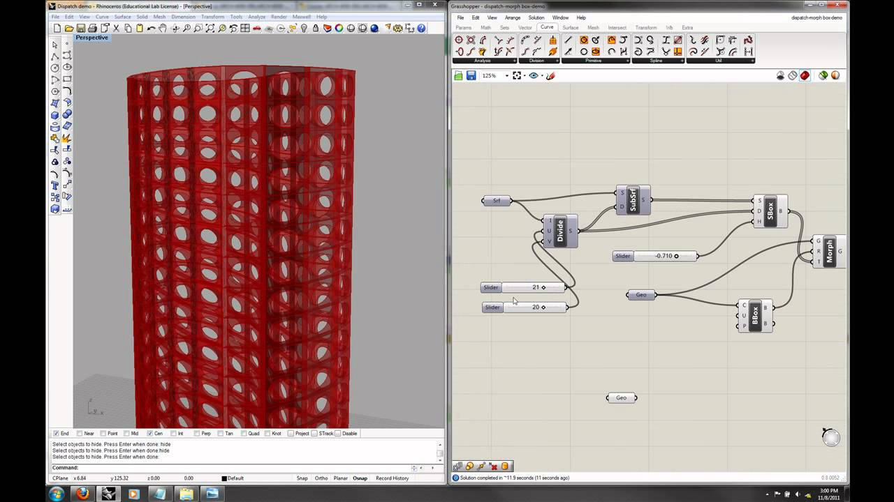 Grasshopper Lecture 3 Part 4 Paneling With Morph