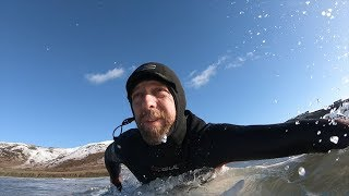 Do you get cold when surfing on snowy days?