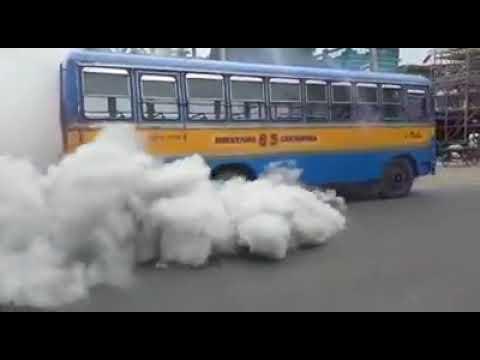 Bus burnout | viral video in kanchrapara
