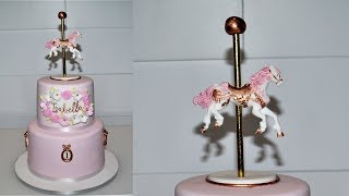 Cake decorating tutorials | Carousel cake | Sugarella Sweets