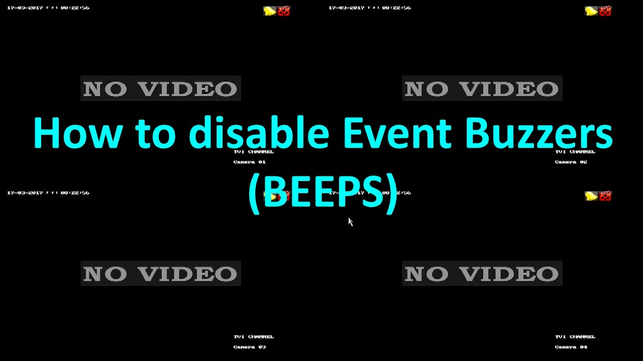 HIKVISION - How to Disable Exception Buzzers (Beeping Noise)