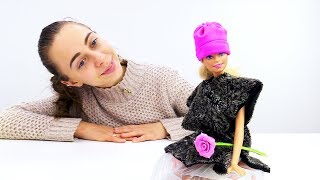 Модная шапка для Барби своими руками. Видео для девочек