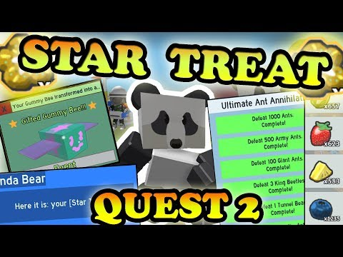 COMPLETING *STAR TREAT* QUEST 2!!!! *NEW* GIFTED BEE Roblox Bee swarm simulator