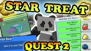 COMPLETING *STAR TREAT* QUEST 2!!!! *NEW* GIFTED BEE- Roblox Bee swarm simulator
