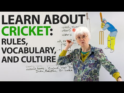 Learn about the sport of CRICKET: rules, vocabulary, culture, and more!