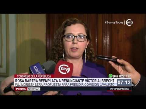 Rosa Bartra fue elegida como nueva integrante de Comisión Lava Jato