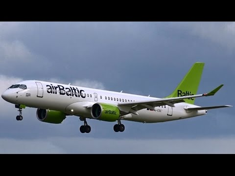 Air Baltic 3rd: Bombardier CS300 - (YL-CSC) Lands at AMS Schiphol