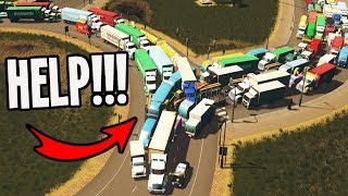 City has Roundabouts plus Horrendous TrafficWHAT NOW??? Cities Skylines