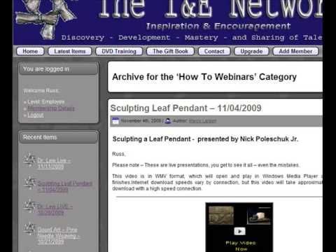 Training Webinars inside The Inspiration and Encouragement Network