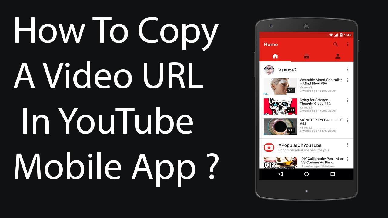 How To Copy Url Of Video In Youtube Mobile App 2016 ?