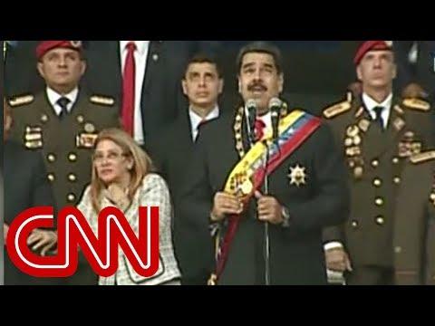 Venezuelan President Nicolas Maduro evacuated from stage