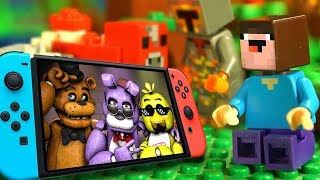 Лего НУБик и БОРЬКА  Nintendo SWITCH LEGO Майнкрафт Мультики Все Серии Подряд Мультфильмы ИГРУШКИ