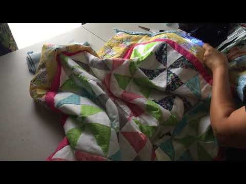 Stitching the Outside Quilt Binding