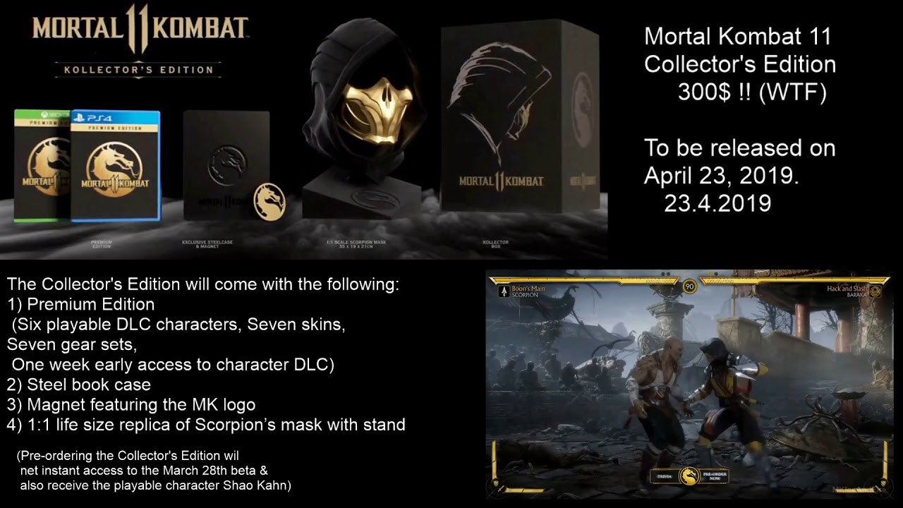 Mortal Kombat 11 Collector's Edition (300$! pre-review) GameStop
