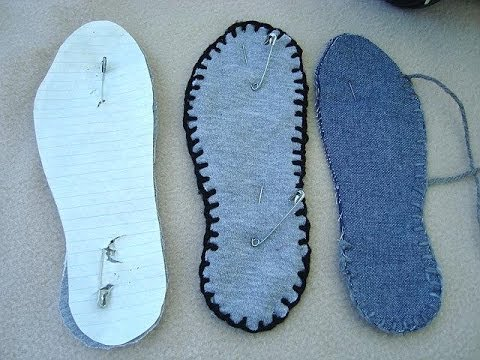 Make thick washable fabric soles for slippers, how to diy, sewing for beginners