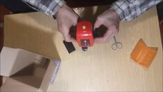 лазерный уровень нивелир A8826D AK435 распаковка посылки, не обзор