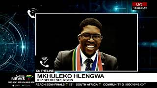 lFP's Mkhuleko Hlengwa reacts to calls to probe PP''s office