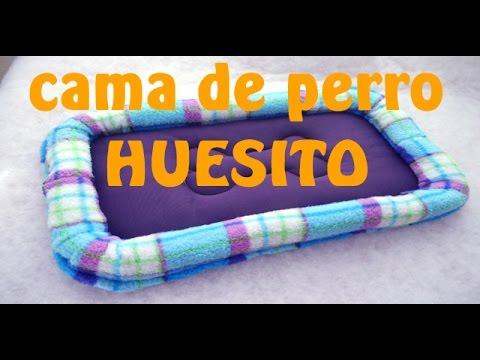 C mo hacer cama de perro rectangular huesito tutorial - Como hacer camitas para perros ...